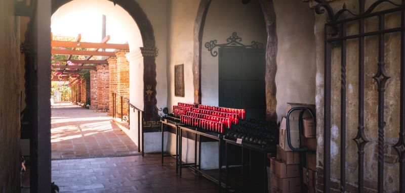 Candles in Mission San Juan Capistrano