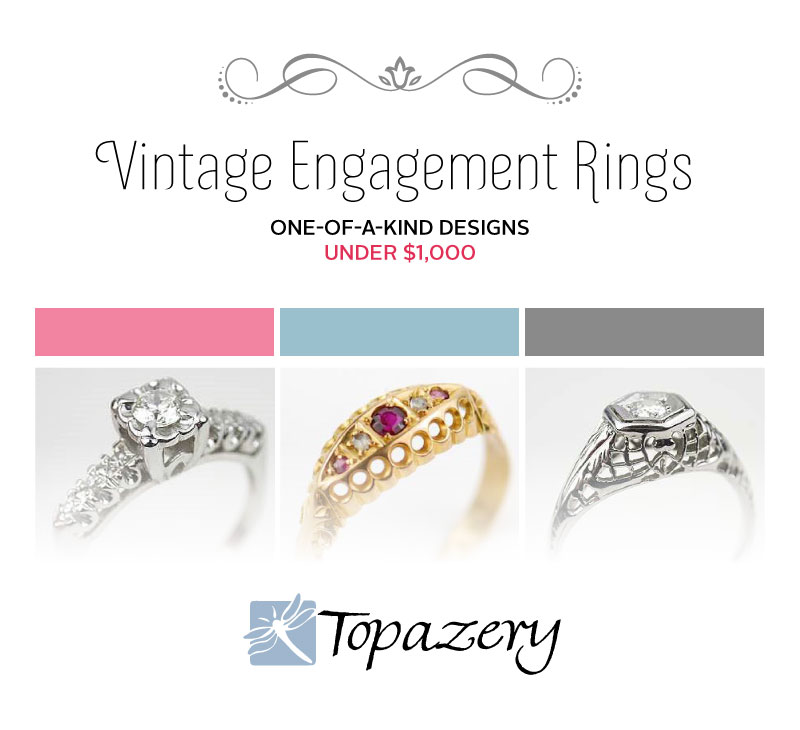 Vintage Engagement Rings on a Budget