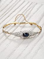 Vintage Style Sapphire Bracelet