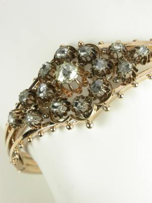 Victorian Rose Gold and Diamond Bracelet