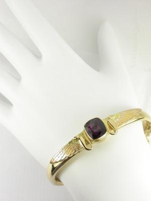 Egyptian Revival Bangle Bracelet