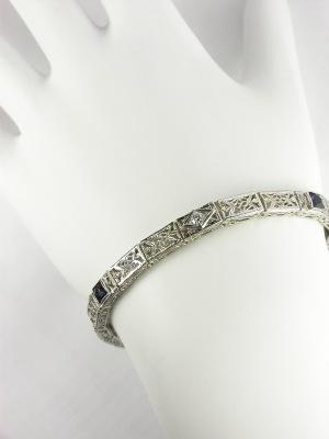 1930s Filigree and Diamond Bracelet