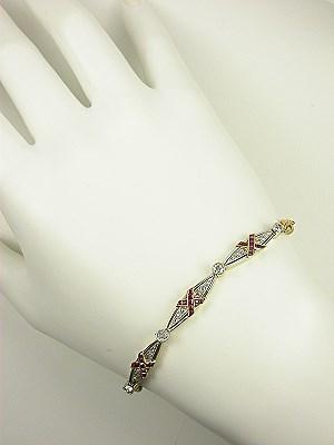 Ruby and Diamond Art Deco Bracelet