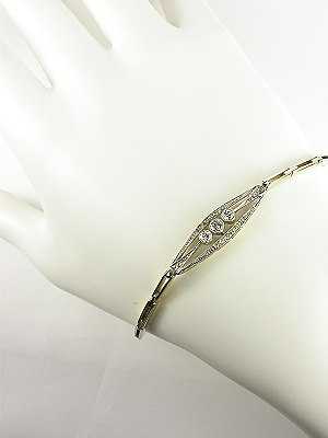 Diamond Bracelet in the Art Deco Style