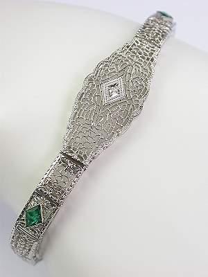1930s Antique Filigree Bracelet
