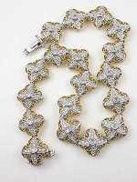 Filigree and Diamond Vintage Bracelet