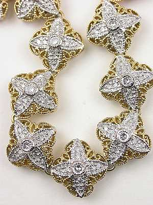Filigree and Diamond Vintage Bracelet