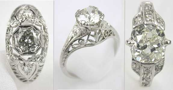 Filigree Engagement Rings