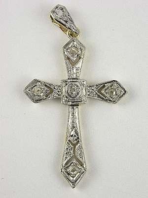 Art Deco Style Diamond Cross
