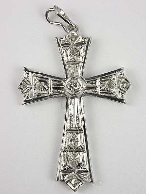 Diamond Vintage Cross in the Art Deco Style