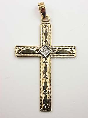 Rose Cut Diamond Cross