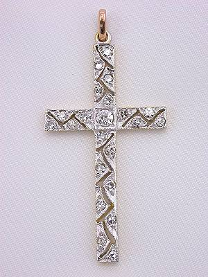 Filigree and Diamond Vintage Cross