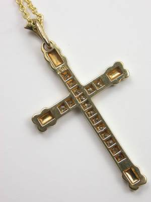Antique Cross with Orange Blossom Motif