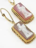 Victorian Reproduction Cameo Earrings