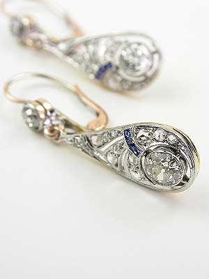 Edwardian Antique Drop Earrings