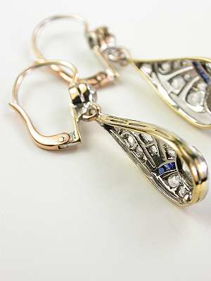 Edwardian Antique Drop Earrings