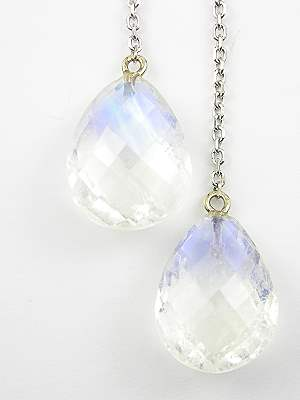 Vintage Style Moonstone Dangle Earrings