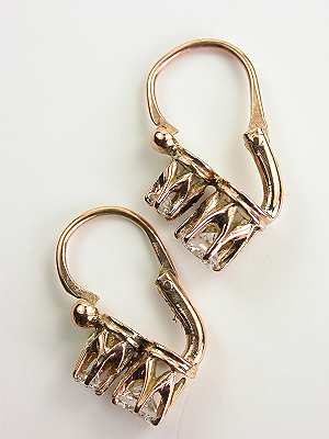 Rose Gold Vintage Earrings