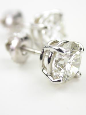 Vintage Style Diamond Earrings