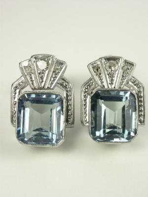 Aquamarine Antique Earrings