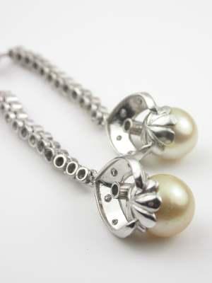 Pearl and Diamond Vintage Earrings