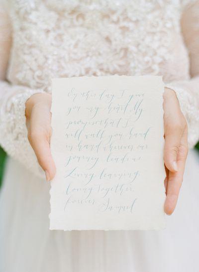 Handwritten vows by Bijou Creative