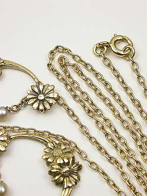Victorian Swag and Floral Necklace