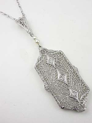 Filigree Antique Pendant Necklace