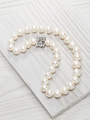 South Sea Pearl Necklace with Vintage Clasp