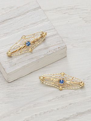 Turn of the Century Sapphire Filigree Pins