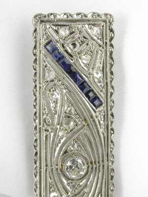 Edwardian Filigree Antique Pin