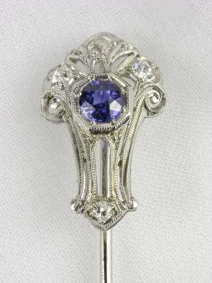 Edwardian Sapphire Antique Stick Pin