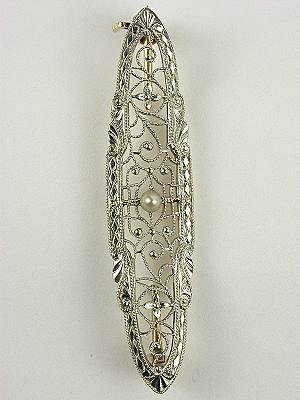 Krementz Antique  Edwardian Filigree Pin