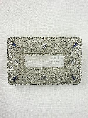 Antique Art Deco Filigree Brooch