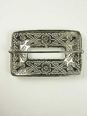 Antique Art Deco Filigree Brooch