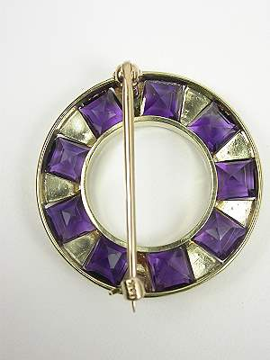 Edwardian Amethyst and Pearl Antique Pin