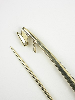 Antique Sapphire and Diamond Bar Pin