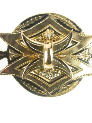 Victorian Gold and Enamel Antique Brooch