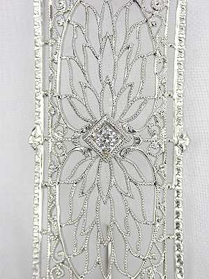 Edwardian Filigree and Diamond Antique Pin