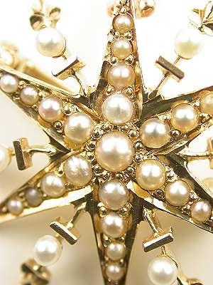 Victorian Pearl Brooch and Pendant