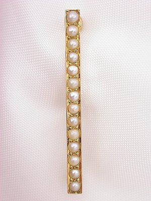Antique Pearl Bar Pin, Circa 1885