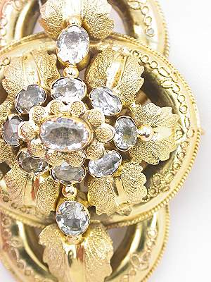 Etruscan Revival Antique Brooch