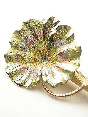 Art Nouveau Antique Flower Brooch