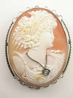 Large Antique Cameo Brooch and Pendant