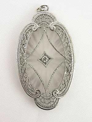 Antique Quartz and Diamond Pendant