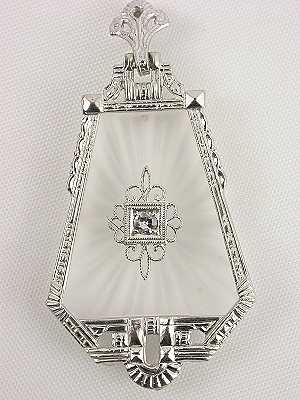Antique Quartz and Diamond Pendant