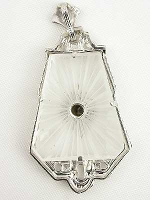 Quartz and Diamond Vintage Pendant