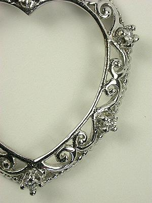 Topazery Vintage Collection Diamond Pendant