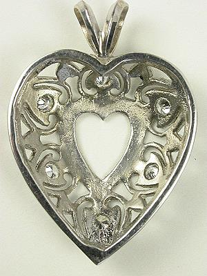 Topazery Vintage Collection Heart Pendant
