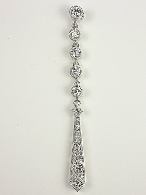 Vintage Style Diamond Drop Pendant